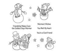 Spellbinders Friendly Snowmen Clear Stamp (STP-052)