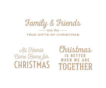 Spellbinders Gifts of Christmas Sentiments Glimmer Hot Foil Plate (GLP-294)