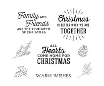 Spellbinders Home for Christmas Sentiments Clear Stamp (STP-057)