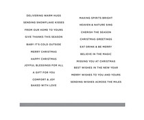Spellbinders Mini Christmas Greetings Clear Stamp & Die Set (SDS-168)
