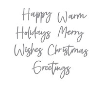 Spellbinders Create a Christmas Sentiment Etched Dies (S4-1134)