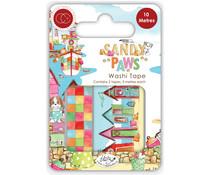 Craft Consortium Sandy Paws Washi Tape (CCWTPE012)