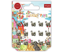 Craft Consortium Sandy Paws Little Crabs Metal Charms (CCMCHRM027)