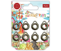 Craft Consortium Sandy Paws Life Rings Metal Charms (CCMCHRM026)