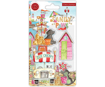 Craft Consortium Sandy Paws Ice Cream Clear Stamps (CCSTMP065)