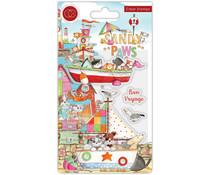 Craft Consortium Sandy Paws Bon Voyage Clear Stamps (CCSTMP064)