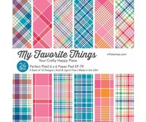 My Favorite Things Perfect Plaid 6x6 Inch Paper Pad (EP-79)