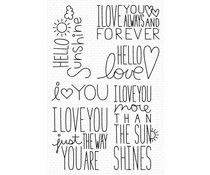 My Favorite Things I Love You More Clear Stamps (MSTN-001)