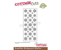 Scrapping Cottage Snowflake Background Slimline (CCB-101)