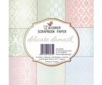 Decorer Delicate Damask 6x6 Inch Paper Pack (DECOR-C32-235)