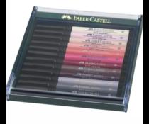 Faber Castell Pitt Artist Pen Brush Skin Tones (12pcs) (FC-267424)