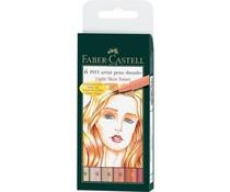 Faber Castell Pitt Artist Pen Brush Light Skin Tones (6pcs) (FC-167162)