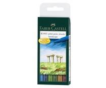 Faber Castell Pitt Artist Pen Brush Landscape (6pcs) (FC-167105)