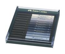 Faber Castell Pitt Artist Pen Brush Grey (12pcs) (FC-267423)