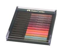 Faber Castell Pitt Artist Pen Brush Earth Tones (12pcs) (FC-267422)