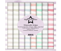 Paper Favourites Watercolor Stripes 12x12 Inch Paper Pack (PF373)