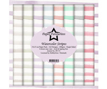 Paper Favourites Watercolor Stripes 6x6 Inch Paper Pack (PF173)
