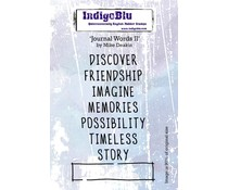 IndigoBlu Journal Words II A6 Rubber Stamp (IND0561)