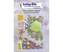 IndigoBlu Warm Winter Wishes A6 Rubber Stamps (IND0815)