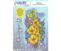 IndigoBlu Gladioli A5 Rubber Stamps (IND0811)