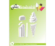By Lene Ice Cream Cutting & Embossing Dies (BLD1380)