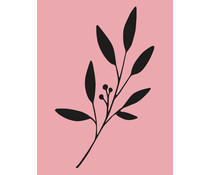 Colop Branch Rose M&B Rubber Stamps (MB0064)