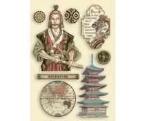 Stamperia Wooden Shapes A5 Sir Vagabond in Japan Samurai (KLSP110)