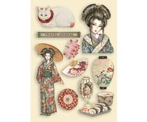 Stamperia Wooden Shapes A5 Sir Vagabond in Japan Lady (KLSP106)