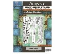 Stamperia Mixed Media Stamp Sir Vagabond in Japan Bamboo (WTKAT21)
