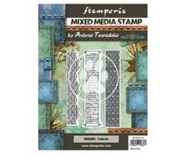 Stamperia Mixed Media Stamp Sir Vagabond in Japan Borders (WTKAT24)