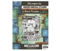 Stamperia Mixed Media Stamp Sir Vagabond in Japan Writings (WTKAT19)