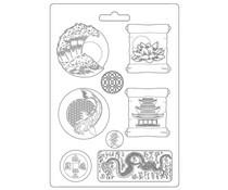 Stamperia Soft Mould A4 Sir Vagabond in Japan Plates (K3PTA4513)