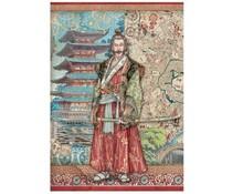 Stamperia Rice Paper A4 Sir Vagabond in Japan Samurai (6 pcs) (DFSA4613)