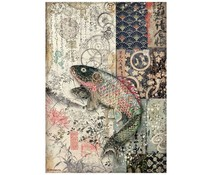 Stamperia Rice Paper A4 Sir Vagabond in Japan Mechanical Fish (6 pcs) (DFSA4609)