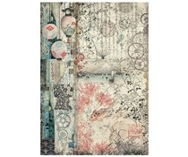 Stamperia Rice Paper A4 Sir Vagabond in Japan Lamps (6 pcs) (DFSA4611)