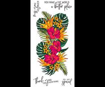 LDRS Creative Tropical Floral Slim Line Clear Stamps (LDRS3315)