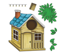 LDRS Creative Birdhouse 4x4 Inch Clear Stamps (LDRS3312)