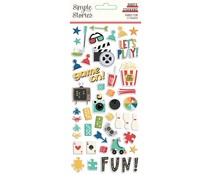 Simple Stories Family Fun Puffy Stickers (15619)