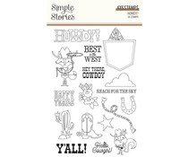 Simple Stories Howdy! Clear Stamps (15422)