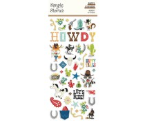 Simple Stories Howdy! Puffy Stickers (15418)