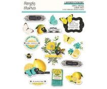 Simple Stories Simple Vintage Lemon Twist Layered Stickers (15226)