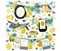 Simple Stories Simple Vintage Lemon Twist Banner Sticker (15202)
