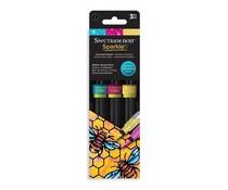 Spectrum Noir Sparkle Brush Pens Essential Brights (3pcs) (SPECN-SPA-ESB3)