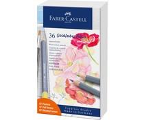 Faber Castell Goldfaber Aqua Watercolour Pencils Gift Set (36pcs) Pastel (FC-114639)