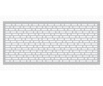 My Favorite Things Slimline English Brick Wall Stencil (ST-160)