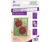 Gemini Precious Poinsettias 3D Embossing Folder & Stencil (GEM-EF5-3D-PRPO)