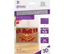 Gemini Jingle Bells 3D Embossing Folder & Stencil (GEM-EF5-3D-JINB)