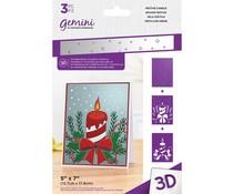 Gemini Festive Candle 3D Embossing Folder & Stencil (GEM-EF5-3D-FECA)