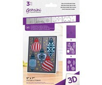Gemini Delicate Decorations 3D Embossing Folder & Stencil (GEM-EF5-3D-DDEC)