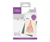 Crafter's Companion Merry Christmas Tree Clear Stamps (CC-STP-MCHS)